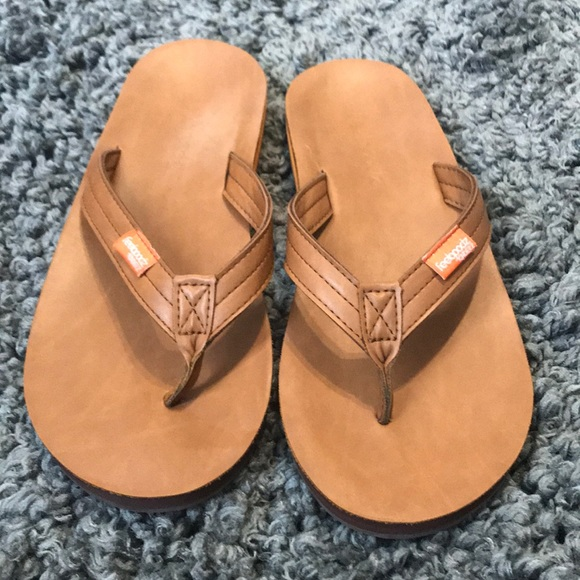 942c0db3665d76 Feelgoodz Shoes - Feelgoodz Slim Kinderz Tan Leather Flip Flops